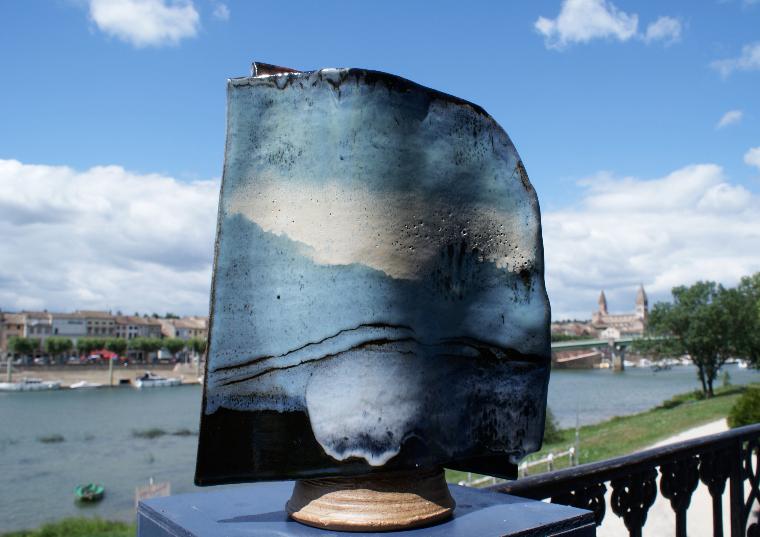 lune vague ceramique - Colette Houtmann Tournus
