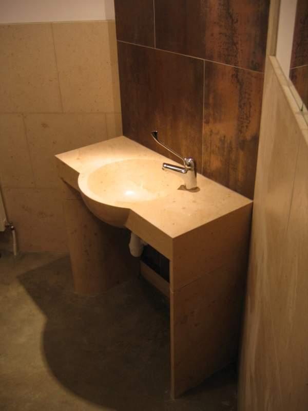 salles de bain pierre evier taille